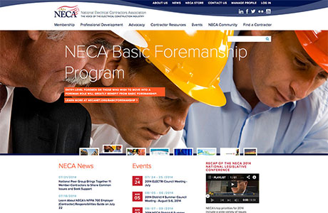 The National Electrical Contractors Association Website