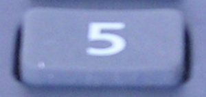 number 5 button