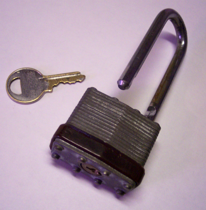 large bicycle lock and key