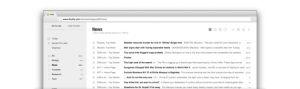 screenshot of feedly