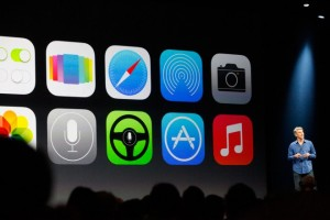 photo of i07 screen at WWDC conference 2013