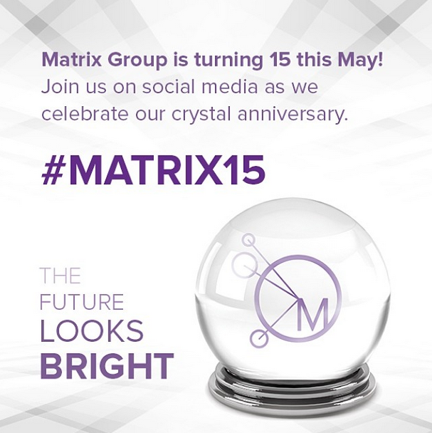 Matrix 1th anniversary logo