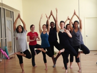 A group of Matrix Group staff get together to do yoga at lunch every now and then.