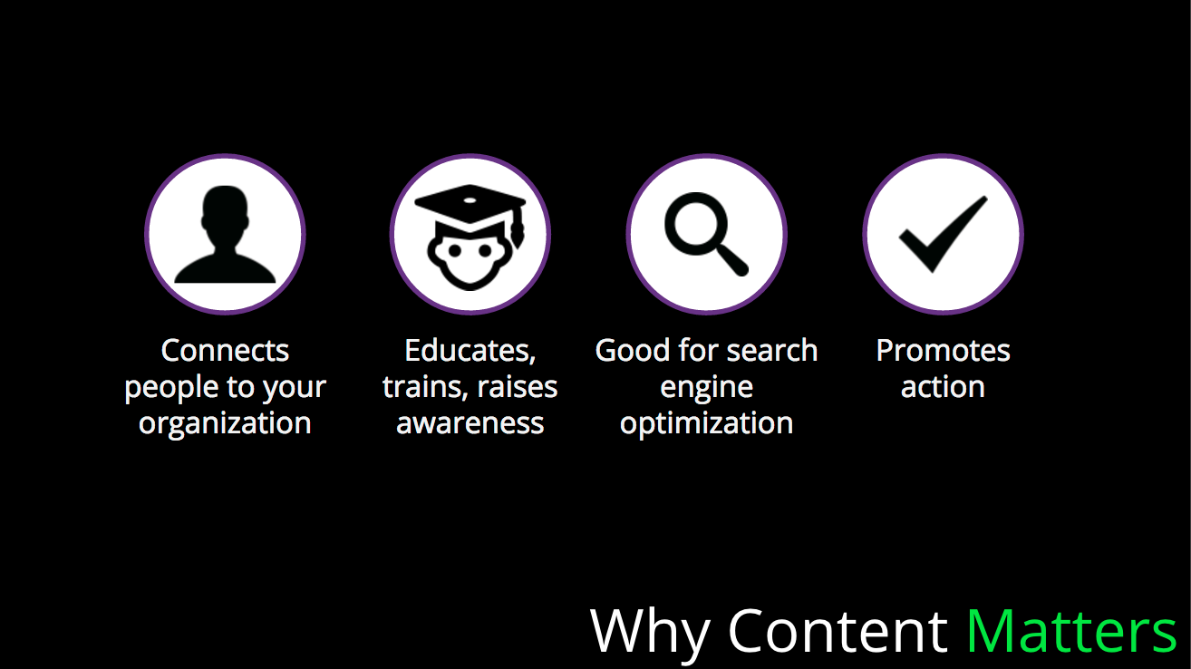 4 reasons why content matters
