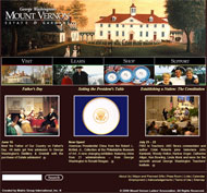 Mount Vernon Website Screenshot