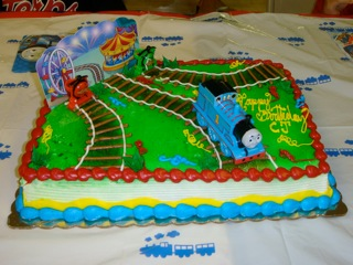 Thomas  Train Birthday Cake on Thomas The Tank Engine