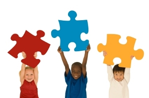 Kids and Puzzle Pieces