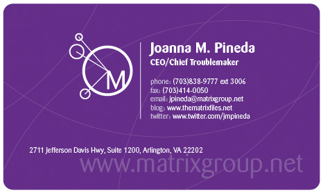 Joanna Pineda business cards