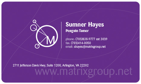 Sumner Hayes business card