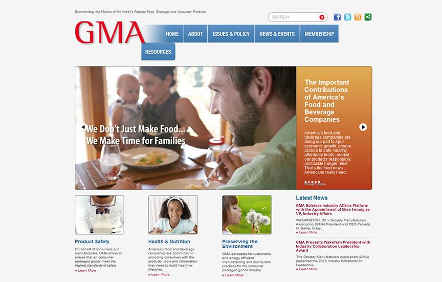 GMA home page