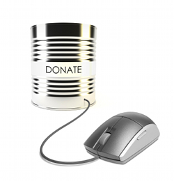 mouse connected to a tin can