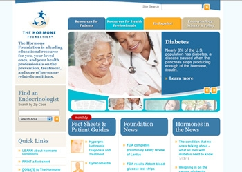 Hormone Foundation home page