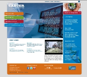 Conquer Cancer home page