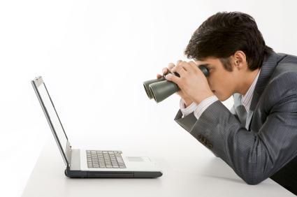 Man looking laptop