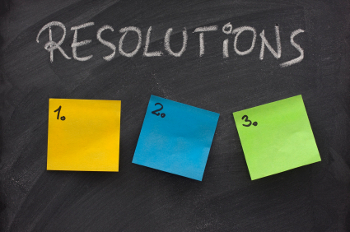blank list of New Year's resolutions