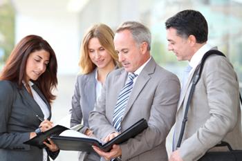 Sample stock image of people meeting