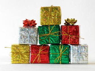 gifts stacked