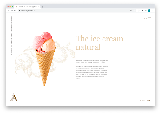 Gelataria Amande Website Screenshot